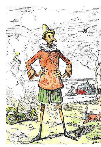 Enrico Mazzanti's Pinocchio; image in the public domain