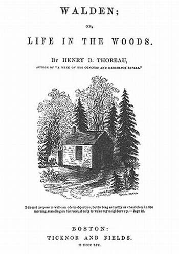 Title page of Walden