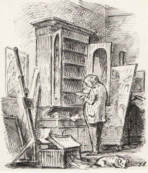 Edward Ardizzone, self portrait (1952)  Tate Gallery