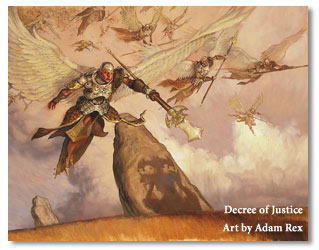 Decree of Justice card from Magic: the Gathering