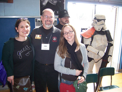 Adrienne and me (with Timothy Zahn, Imperial Dude and Stormtrooper) at the Teen Book Festival in Rochester this past spring. This is basically what the end of the world will look like.