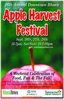 Woo! Apple Harvest Festival! Caramel apples, apple fritters, apple doughnuts, apple cider, apple wine and deep-fried Oreos.