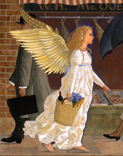 Illustration from The Possibility of Angels by Peter Malone.