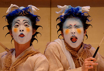 A Midsummer Nights Dream, as performed by Yohangza Theatre Company from Korea. This has nothing to do with what my husband is doing in Seoul, but it looks cool. Click to learn more.